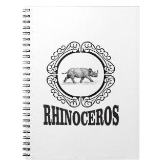 Carnet Rhinocéros de cercle