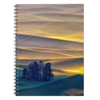 Carnet Rolling Hills de blé au lever de soleil   WA