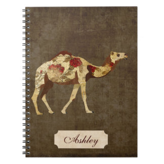 Carnet rose de chameau