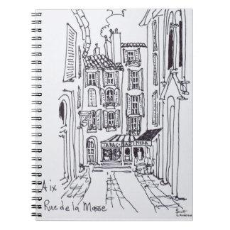 Carnet Rue de la Masse | Aix-en-Provence, France