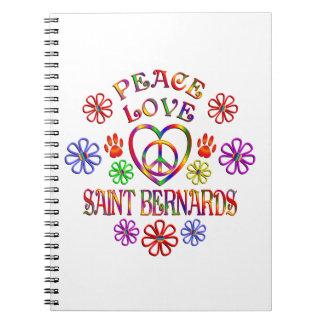 Carnet Saint Bernards d'amour de paix