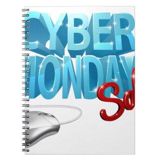 Carnet Signe de souris d'ordinateur de vente de lundi de
