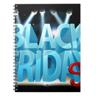 Carnet Signe noir d'étape de vente de vendredi