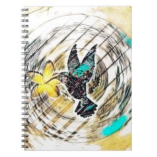 Carnet Silhouette de colibri