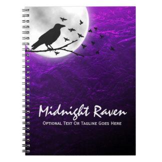 Carnet Silhouette noire de Raven de corneille sur