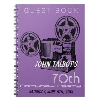 Carnet Soixante-dixième GuestBook de fête d'anniversaire
