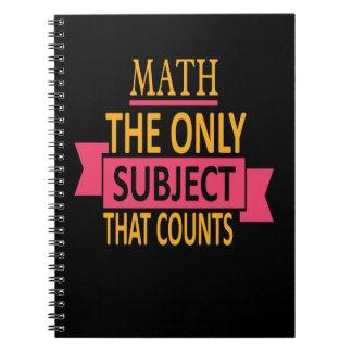 Carnet Sujet de calembour de maths seulement qui compte