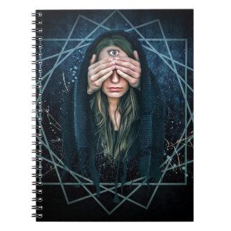 Carnet Symbole spirituel d'intuition d'oeil de troisième