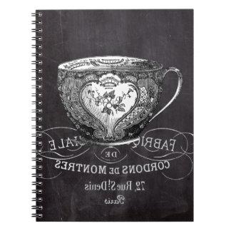 Carnet Tableau Alice dans la tasse de thé de thé du pays