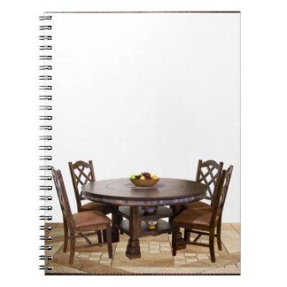 Carnet Tableau avec des chaises dans une conception de