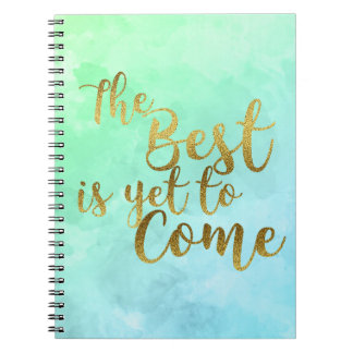 Carnet The Best I Yet To Mange Watercolor Notebook