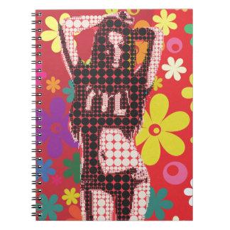 Carnet Thème de l'enfant de fleur de hippie 60s