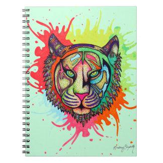 Carnet Tigre d'arc-en-ciel