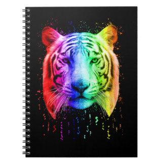Carnet Tigre sibérien d'éclaboussure de peinture de