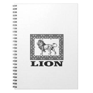 Carnet timbre de lion