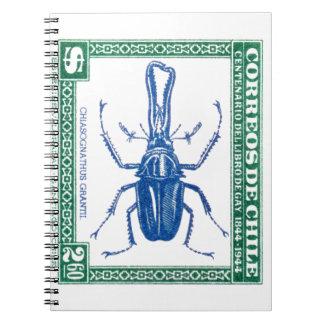 Carnet Timbre-poste 1948 de scarabée de mâle du Chili