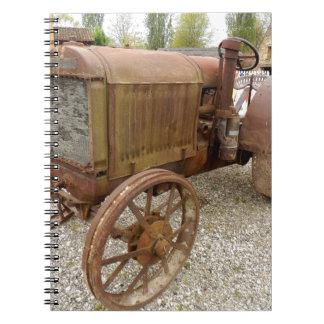 Carnet Tracteur vintage rouillé
