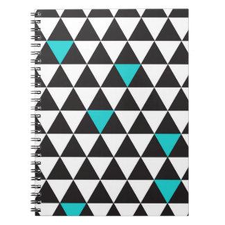 Carnet Triangles géométriques de turquoise turquoise