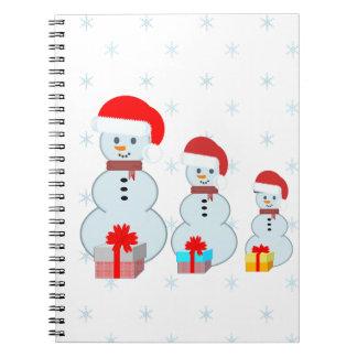 Carnet Trois bonhommes de neige