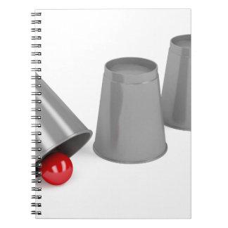 Carnet Trois tasses et une boule