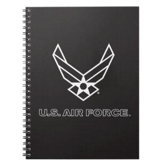 Carnet U.S. Logo de l'Armée de l'Air - noir