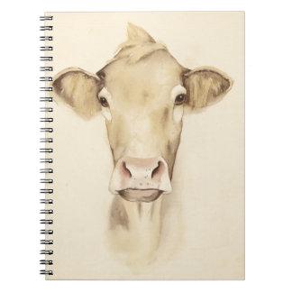 Carnet Vache aux animaux | de grange d'aquarelle