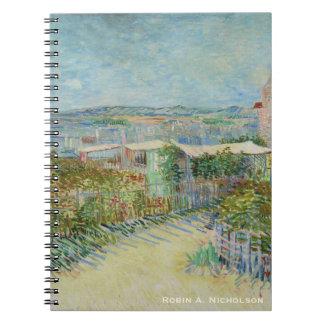Carnet Van Gogh Montmartre personnalisé