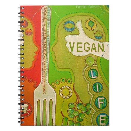 Carnet Vegan life fork