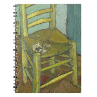 Carnet Vincent van Gogh - la chaise de Van Gogh avec le