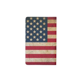 Carnet vintage de Moleskine de poche de drapeau