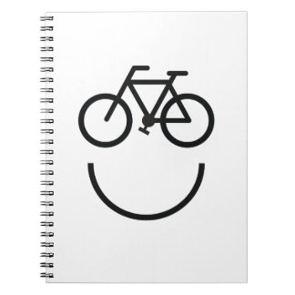 Carnet Visage de vélo, smiley de bicyclette