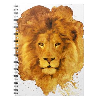 Carnet Watercolor Lion