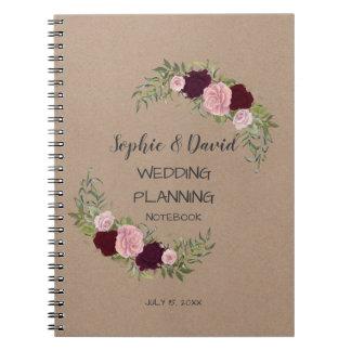 Carnet Wedding planner floral romantique et rustique de