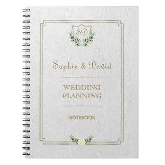 Carnet Wedding planner luxuriant de verdure de crête
