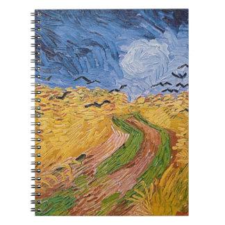 Carnet Wheatfield de Vincent van Gogh | avec des