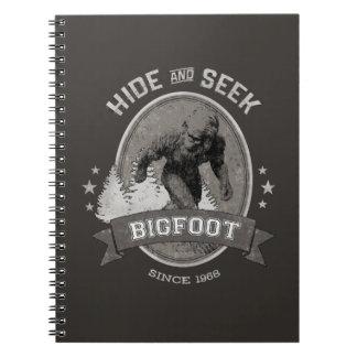 Carnet Yeti de Bigfoot. Sasquatch. Rétro, cru