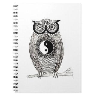 Carnet Yin-Yang Owl Notebook