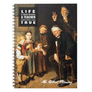Carnets de enseignement de cadeau de beaux-arts de