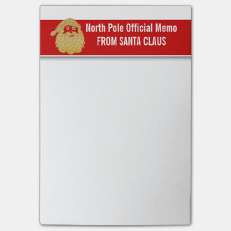 Carnets officiels de Pôle Nord de Santa Notes Post-it