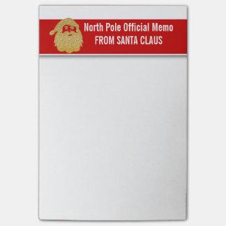 Carnets officiels de Pôle Nord de Santa Note Post-it