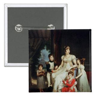 Caroline Bonaparte et ses enfants Pin's