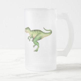 Carolinii de Giganotosaurus Frosted Glass Beer Mug
