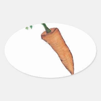 carotte, fernandes élégants sticker ovale