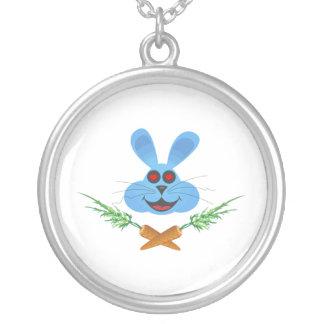 Carottes de lapin et de croix pendentif rond