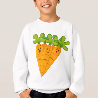 Carottes drôles de jardin sweatshirt