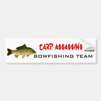 carp02, 3022, assassins de carpe, ÉQUIPE de BOWFIS Autocollant De Voiture