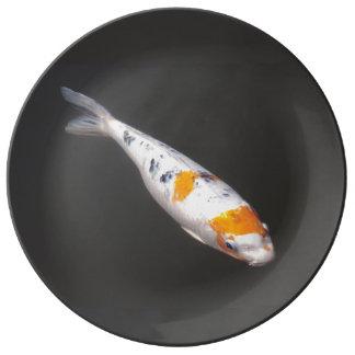 Carpe de Koi de Japonais Assiette En Porcelaine
