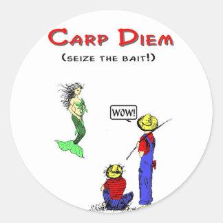 Carpe Diem 1 Sticker Rond