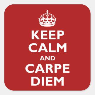 Carpe Diem ! Sticker Carré