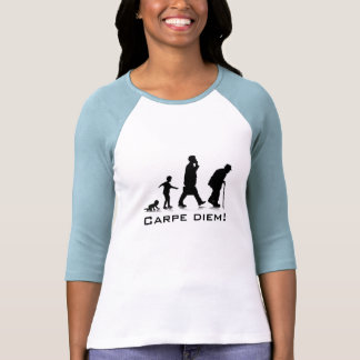 """Carpe Diem !"" Dames 3/4 raglan de douille adapté T-shirts"